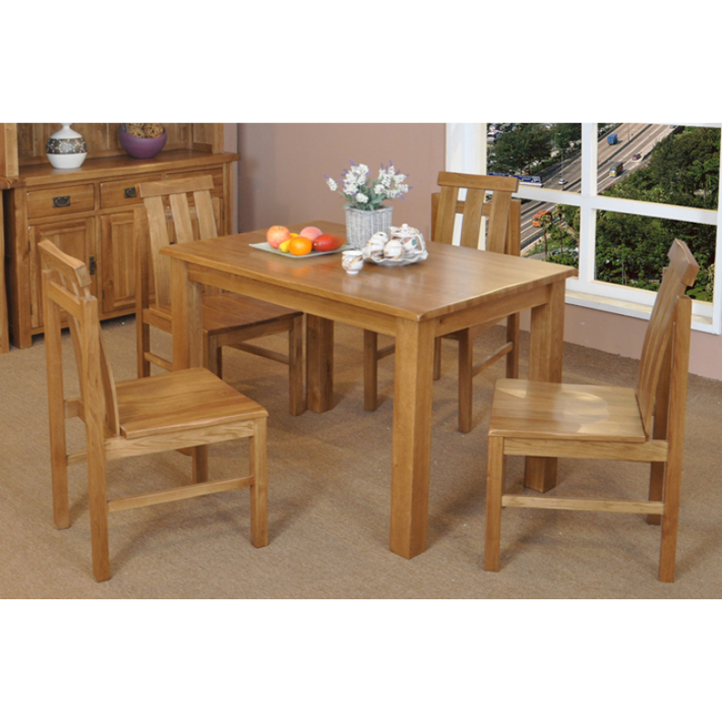 1 8m American White Oak 7 Piece Dining Set On